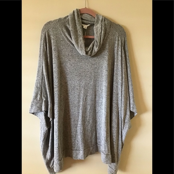 Caslon Sweaters - Caslon NWOT turtleneck poncho - grey XXL